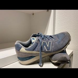 blue gray & steel blue New Balance 696 shoes